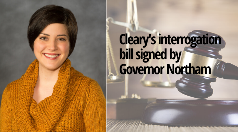 Hayley Cleary, Ph.D., an associate professor of Criminal Justice and Public Policy at the Wilder School's bill, HB1023, passed the House and on April 11, Governor Northam signed it into law.